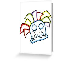 Retro Tiki Mask Greeting Card