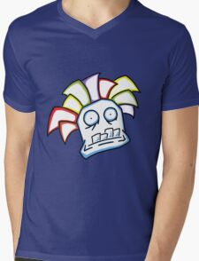 Retro Tiki Mask Mens V-Neck T-Shirt