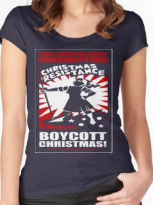 Christmas Resistance Women's Fitted Scoop T-Shirt