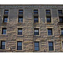 Granite Facade  Photographic Print