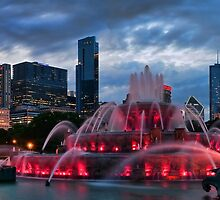 Chicago Blackhawks Skyline by ChicagoPhotoSho