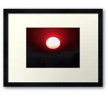 Onion of a Hammered Sun Framed Print