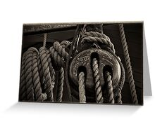 Blocks and Rigging Greeting Card
