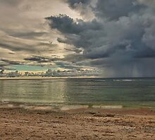 Pingelap passing rain shower by John Marelli