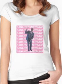 Hotline Trump Women's Fitted Scoop T-Shirt