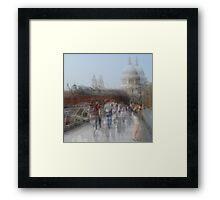 Millenium Bridge in Motion, London Framed Print