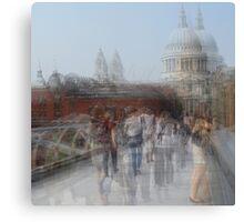 Millenium Bridge in Motion, London Canvas Print