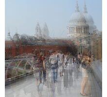 Millenium Bridge in Motion, London Photographic Print