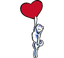 Samoyed on my Heart Photographic Print