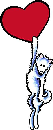 Samoyed on my Heart by offleashart