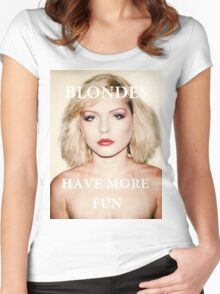 Blondes have more fun. Women's Fitted Scoop T-Shirt