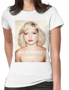 Blondes have more fun. Womens Fitted T-Shirt
