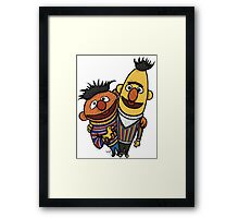 Bert And Ernie Framed Print