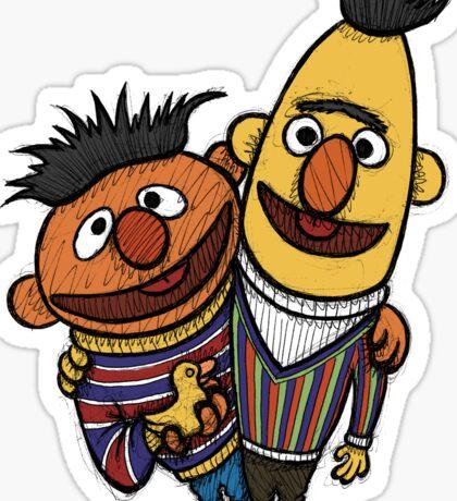 Bert And Ernie Sticker