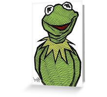 Kermit the Frog Greeting Card