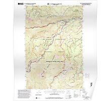 USGS Topo Map Washington State WA Old Scab Mountain 242932 2000 24000 Poster