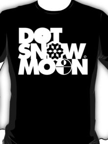 Dot Snow Moon (White Text) T-Shirt