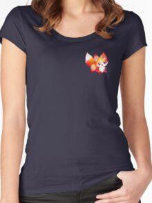 kawaii fox Women's Fitted Scoop T-Shirt