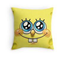Spongebob Squarepants face Throw Pillow