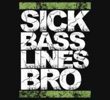 Sick Basslines Bro (neon green) Kids Tee