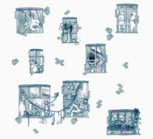 Fairy tale Apartment One Piece - Short Sleeve