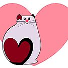 Lovey Cat by redqueenself