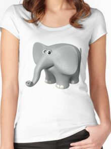 Toon ELEPHANT Women's Fitted Scoop T-Shirt