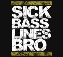 Sick Basslines Bro (gold) T-Shirt