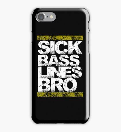 Sick Basslines Bro (gold) iPhone Case/Skin