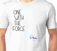 One with the force [rarity] [black text] Unisex T-Shirt