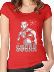 sugar ray robinson Women's Fitted Scoop T-Shirt