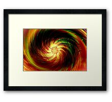 Colorful Flower Fantasy Art Design Framed Print