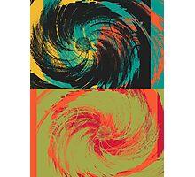 Colorful Paint Vintage Flower Art Design Photographic Print