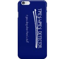 Timey-Wimey Detector. It goes ding when there's stuff. iPhone Case/Skin