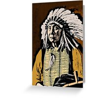 CHIEF RED CLOUD-COLOUR Greeting Card