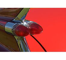 Cadillac Fleetwood Tailfins.  Photographic Print
