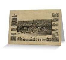 Panoramic Maps Birds eye view of the city of Washington from the dome of the US Capitol Greeting Card