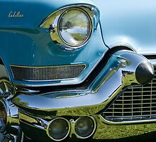 Front end of classic car. by Mark  Spowart