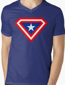 Supercaptain Mens V-Neck T-Shirt