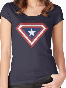 Supercaptain (Vintage Edition) Women's Fitted Scoop T-Shirt