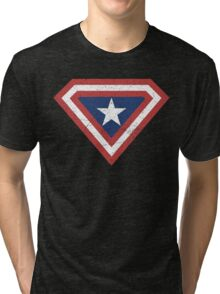 Supercaptain (Vintage Edition) Tri-blend T-Shirt