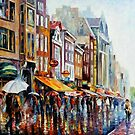 AMSTERDAM'S RAIN - OIL PAINTING BY LEONID AFREMOV by Leonid  Afremov