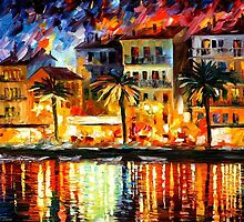 ATTRACTIVE CORSICA - OIL PAINTING BY LEONID AFREMOV by Leonid  Afremov
