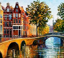 THE GATEWAY TO AMSTERDAM - OIL PAINTING BY LEONID AFREMOV by Leonid  Afremov
