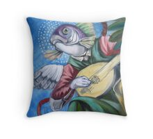 Fish With Lute Throw Pillow