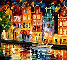 THE SKY OF AMSTERDAM - OIL PAINTING BY LEONID AFREMOV by Leonid  Afremov