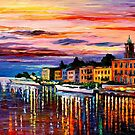 LAKE COMO - BELLAGIO - OIL PAINTING BY LEONID AFREMOV by Leonid  Afremov