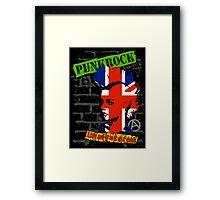 Punkrock - Union jack mohawk Framed Print