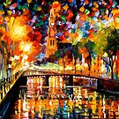 LIGHTS AND SHADOWS OF AMSTERDAM - OIL PAINTING BY LEONID AFREMOV by Leonid  Afremov