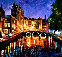 THOUGHTFUL  AMSTERDAM - OIL PAINTING BY LEONID AFREMOV by Leonid  Afremov